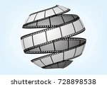 cinema   movie and photography... | Shutterstock .eps vector #728898538