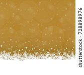 white snow flakes on bottom... | Shutterstock .eps vector #728898976