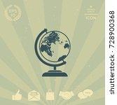 globe symbol icon | Shutterstock .eps vector #728900368
