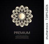 golden flower shape. gradient... | Shutterstock .eps vector #728912026