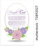 frame with flower | Shutterstock .eps vector #72892027