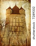dark tower -prison for princess (from my castle collection) - stock photo