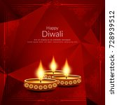 abstract happy diwali red color ... | Shutterstock .eps vector #728939512