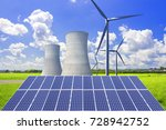 nuclear power plants ... | Shutterstock . vector #728942752