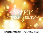 happy new year  lettering ... | Shutterstock .eps vector #728952412