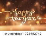 happy new year  lettering ... | Shutterstock .eps vector #728952742