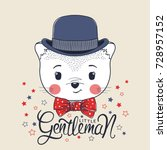 little gentleman. cute cat boy... | Shutterstock .eps vector #728957152
