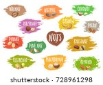 vector set of trendy emblems of ... | Shutterstock .eps vector #728961298
