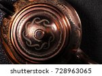 the vintage turkish teapot on... | Shutterstock . vector #728963065