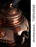 the vintage turkish teapot on... | Shutterstock . vector #728963068