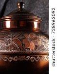 the vintage turkish teapot on... | Shutterstock . vector #728963092