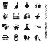 16 vector icon set   uv cream ... | Shutterstock .eps vector #728972092