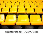 plenty of yellow plastic seats... | Shutterstock . vector #72897328