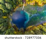 Aerial View Of The Karst Lake...