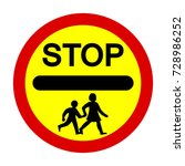 school crossing patrol ... | Shutterstock .eps vector #728986252