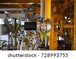 gas detector install  on top... | Shutterstock . vector #728993755