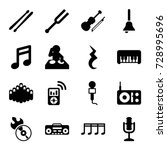 music icons set. set of 16...