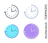 time concept linear symbols.... | Shutterstock .eps vector #728996392