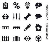 16 vector icon set   report ... | Shutterstock .eps vector #729003082