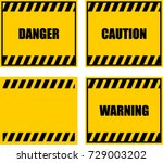 danger  caution  warning | Shutterstock .eps vector #729003202