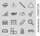 instrument icons set. set of 16 ... | Shutterstock .eps vector #729007126
