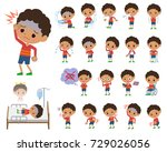 a set of boy with injury and... | Shutterstock .eps vector #729026056