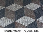 an old floor pattern with dark... | Shutterstock . vector #729033136