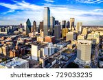 downtown dallas on a summer... | Shutterstock . vector #729033235