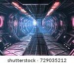 sci fi grunge damaged metallic...   Shutterstock . vector #729035212