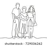 outlines  people sketch | Shutterstock . vector #729036262