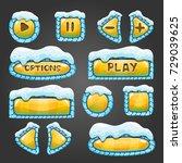 winter cartoon yellow buttons...