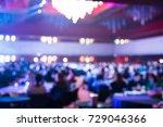 seminar room with attendee... | Shutterstock . vector #729046366