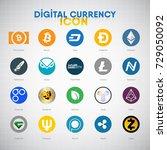 digital currency vector icon set | Shutterstock .eps vector #729050092