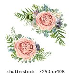 vector floral bouquet design ... | Shutterstock .eps vector #729055408
