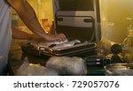 in the underground laboratory... | Shutterstock . vector #729057076