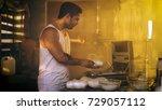 drug dealer placing drug bricks ...   Shutterstock . vector #729057112