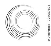 geometric abstract spiral... | Shutterstock .eps vector #729067876