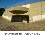 Small photo of Paul D Bunker Battery casemate 1 part of Fort MacArthur in San Pedro California built in 1942 as WWII U.S.A. coastal defense equipped with a 16-inch naval gun facing the Pacific Ocean at White Point.