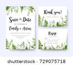 wedding invite  invitation menu ... | Shutterstock .eps vector #729075718