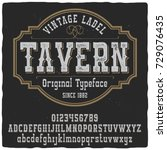 vintage label typeface named ... | Shutterstock .eps vector #729076435