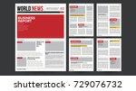newspaper template. financial... | Shutterstock . vector #729076732