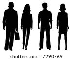 two businessmen and two...   Shutterstock . vector #7290769