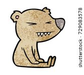 bear cartoon character | Shutterstock .eps vector #729083578