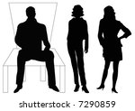 businessman sitting and... | Shutterstock . vector #7290859