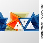 color triangles background ... | Shutterstock .eps vector #729092782