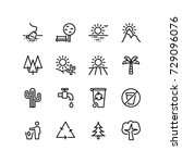 various icons representing...   Shutterstock .eps vector #729096076