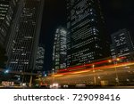 current of traffic with tall... | Shutterstock . vector #729098416