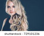 young beautiful woman face... | Shutterstock . vector #729101236