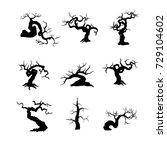 bonsai tree  plant silhouette... | Shutterstock .eps vector #729104602