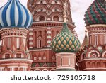 moscow  russia  red square ... | Shutterstock . vector #729105718